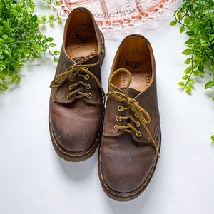 Dr Martens 4 Eye Lace Up Oxford Brown Loafers 11